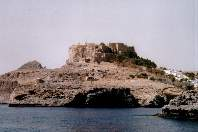 Ruins of the Crusader fortress at Lindos